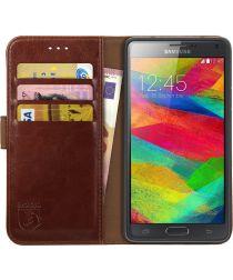 Rosso Element Samsung Galaxy Note 4 Hoesje Book Cover Bruin