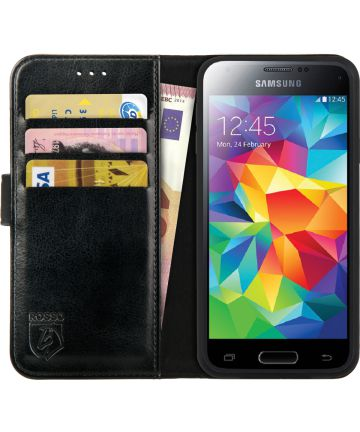 Rosso Element Samsung Galaxy S5 Mini Hoesje Book Cover Zwart
