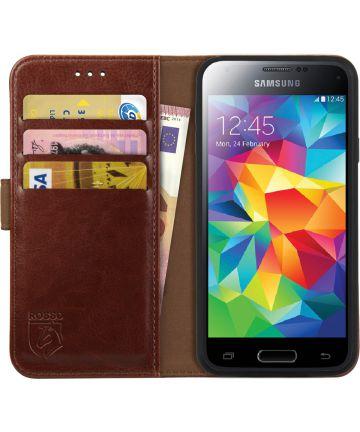 Rosso Element Samsung Galaxy S5 Mini Hoesje Book Cover Bruin