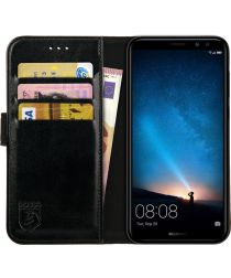 Rosso Element Huawei Mate 10 Lite Hoesje Book Cover Zwart