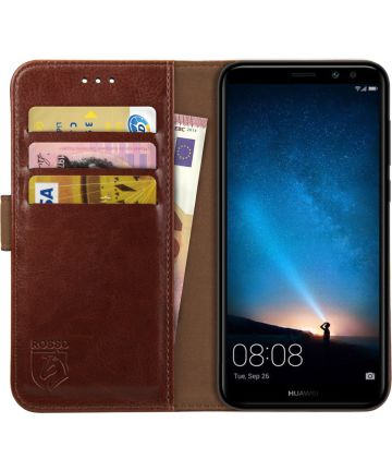 Rosso Element Huawei Mate 10 Lite Hoesje Book Cover Bruin