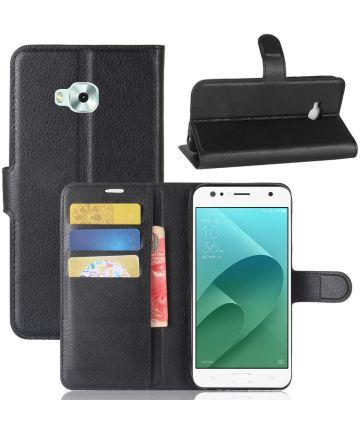 Asus Zenfone 4 Selfie Bookcase Hoesje Zwart Hoesjes