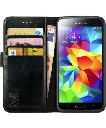 Rosso Element Samsung Galaxy S5 Hoesje Book Cover Zwart