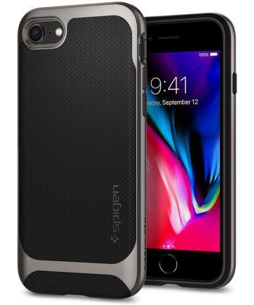 Spigen Neo Hybrid Herringbone iPhone 7 / 8 Hoesje Gunmetal Hoesjes