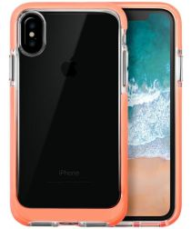 Transparant Apple iPhone X Hoesje Oranje