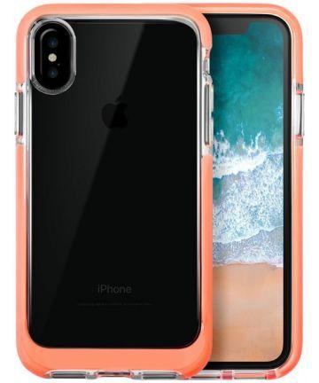 Transparant Apple iPhone X Hoesje Oranje