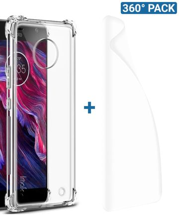 IMAK Motorola Moto X4 Hoesje TPU met Screenprotector Transparant