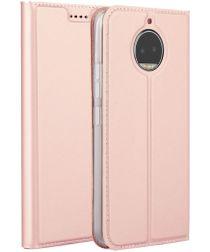 Motorola Moto G5S Plus Portemonnee Hoesje Roze Goud