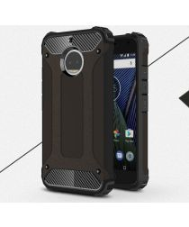 Motorola Moto G5S Plus Hybride Armor Hoesje Zwart
