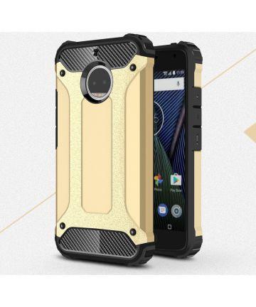 Motorola Moto G5S Plus Hybride Armor Hoesje Goud Hoesjes