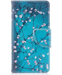 Sony Xperia XZ1 Compact Portemonnee Hoesje met Wintersweet Printje