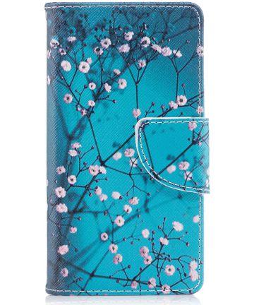 Sony Xperia XZ1 Compact Portemonnee Hoesje met Wintersweet Printje Hoesjes