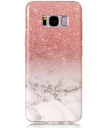 Samsung Galaxy S8 TPU Back Cover Roze Wit