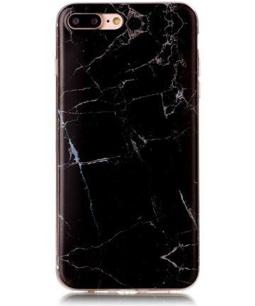 Apple iPhone 7 / 8 Plus TPU Hoesje Marmer Zwart
