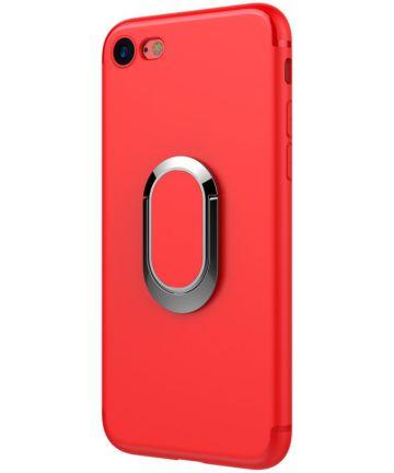 Apple iPhone 7 / 8 Hoesje met Magneet voor Houders Rood