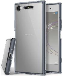Ringke Fusion Sony Xperia XZ1 Hoesje Smoke Black