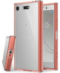 Ringke Fusion Sony Xperia XZ1 Compact Hoesje Rose Gold