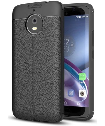 Motorola Moto E4 Plus Hoesje met Kunstleer Coating