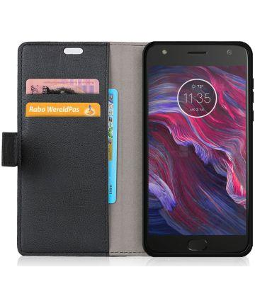 Motorola Moto X4 Portemonnee Hoesje Zwart