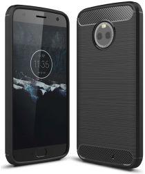 Motorola Moto X4 Geborsteld TPU Hoesje Zwart