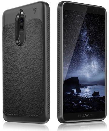 Huawei Mate 10 Lite Hoesje met Kunstleer Coating Zwart
