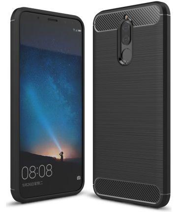Huawei Mate 10 Lite Geborsteld TPU Hoesje Zwart Hoesjes