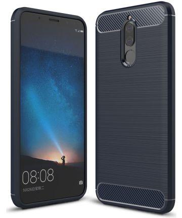 Huawei Mate 10 Lite Geborsteld TPU Hoesje Blauw