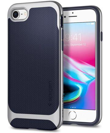 Spigen Neo Hybrid Herringbone iPhone 7 / 8 Hoesje Zilver