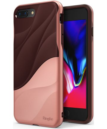 Ringke Wave Apple iPhone 7 Plus / 8 Plus Hoesje Rose Gold
