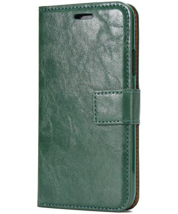 Apple iPhone X / XS Bookcase en Backcover 2-in-1 Hoesje Groen