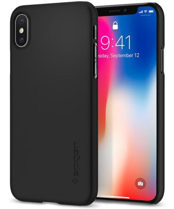 Spigen Thin Fit Case voor Apple iPhone X Black