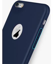 Apple iPhone 8 Frosted Siliconen Hoesje Blauw