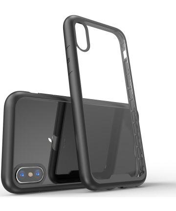 Apple iPhone XS / X Hoesje Armor Hoesje Zwart
