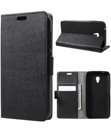 Alcatel U5 3G Portemonnee Hoesje Zwart