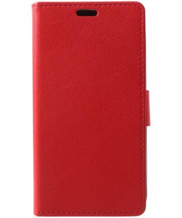 Alcatel U5 3G Portemonnee Hoesje Rood
