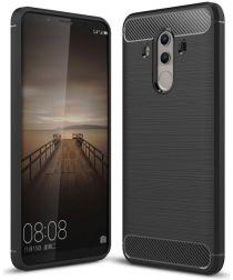 Huawei Mate 10 Pro Geborsteld TPU Hoesje Zwart