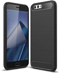 Asus Zenfone 4 Max 5.5 Carbon Hoesje Zwart