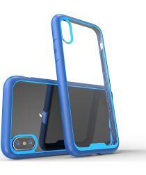 Apple iPhone X Hoesje Armor Hoesje Blauw