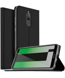 Huawei Mate 10 Lite Luxe Portemonnee Hoesje Zwart