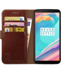 Rosso Element OnePlus 5T Hoesje Book Cover Bruin