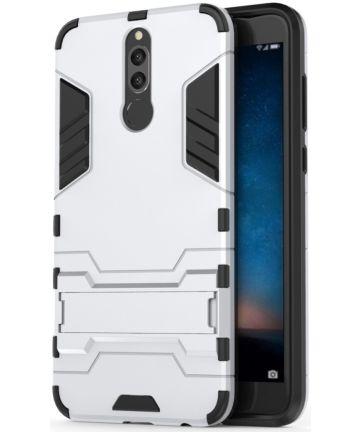 Huawei Mate 10 Lite Hybride Hoesje met Stand Zilver Hoesjes
