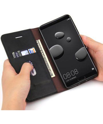 Huawei Mate 10 Pro Luxe Portemonnee Hoesje Zwart