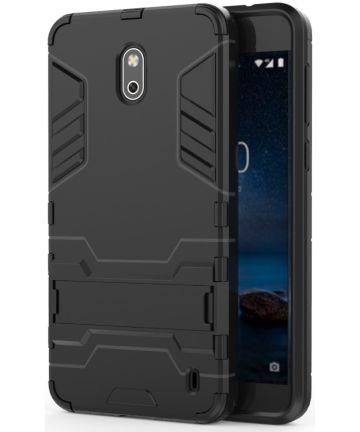 Hybride Nokia 2 Hoesje Zwart