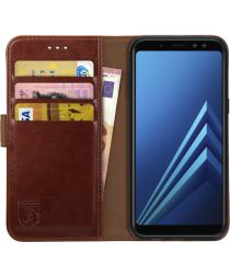 Rosso Element Samsung Galaxy A8 (2018) Hoesje Book Cover Bruin