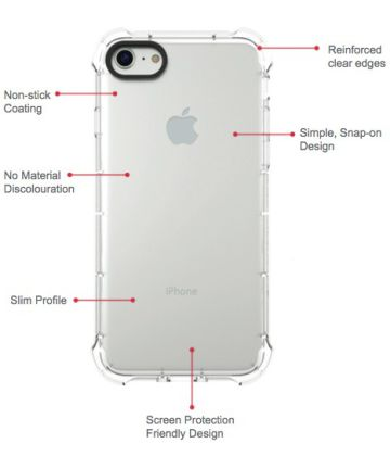 Zagg InvisibleShield Ultra Clear Case Apple iPhone 8 Transparant Hoesjes