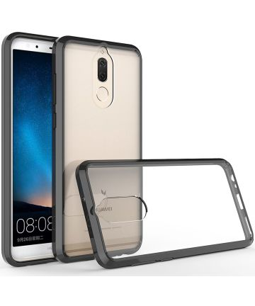 Huawei Mate 10 Lite Hoesje Armor Backcover Transparant Zwart