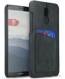 Rosso Select Huawei Mate 10 Lite Hoesje Echt Leer Back Cover Zwart