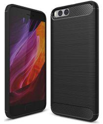 Xiaomi Mi 6 Geborsteld TPU Hoesje Zwart