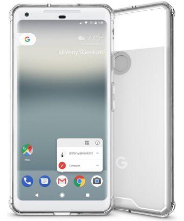 Google Pixel 2 XL Hoesje Armor Hoesje Transparant
