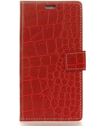 Huawei Mate 10 Lite Krokodil Flipcase Rood